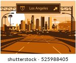 los angeles skyline | Shutterstock .eps vector #525988405