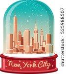 merry christmas new york city | Shutterstock .eps vector #525988507