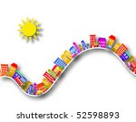 cutout illustration of colorful ... | Shutterstock . vector #52598893