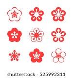 cherry blossom. sakura. icon... | Shutterstock .eps vector #525992311