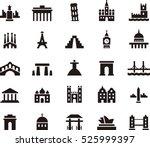 set of monuments   landmarks... | Shutterstock .eps vector #525999397