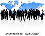 illustration of business people ... | Shutterstock .eps vector #52600084