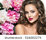 beautiful face of young  woman... | Shutterstock . vector #526002274