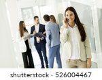 young business woman using a... | Shutterstock . vector #526004467