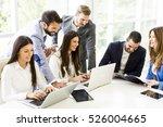 startup business team on... | Shutterstock . vector #526004665