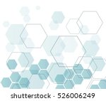 Background from colorful geometrical figures. Simple elements of design for creation of more difficult ideas. Background of hexagons | Shutterstock vector #526006249