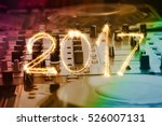 party 2017 written with sparkle ... | Shutterstock . vector #526007131
