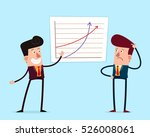 young businessman getting... | Shutterstock .eps vector #526008061