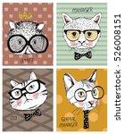 cat set perfect for t shirt... | Shutterstock .eps vector #526008151