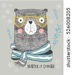 cute bear perfect for t shirt... | Shutterstock .eps vector #526008205