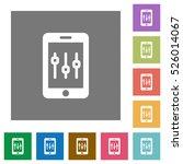 smartphone tweaking flat icons... | Shutterstock .eps vector #526014067