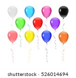 isolated on white balloons. | Shutterstock . vector #526014694