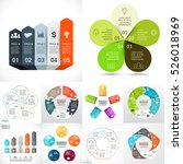 vector circle infographic set.... | Shutterstock .eps vector #526018969