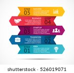 vector arrows 3d infographic ... | Shutterstock .eps vector #526019071