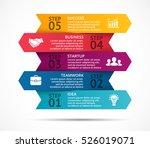 vector arrows 3d infographic ... | Shutterstock .eps vector #526019071