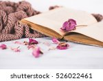 Dried Flowers With A Book And ...