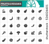 fruits and vegetables vector... | Shutterstock .eps vector #526026601