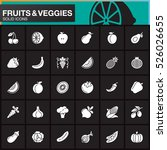 fruits and vegetables vector... | Shutterstock .eps vector #526026655