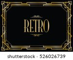 retro art deco invitation | Shutterstock .eps vector #526026739