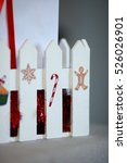 christmas gift boxes with... | Shutterstock . vector #526026901