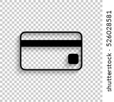 credit card   black vector ... | Shutterstock .eps vector #526028581