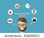 global social network abstract... | Shutterstock .eps vector #526030921