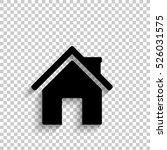 home   black vector  icon with... | Shutterstock .eps vector #526031575