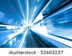 fast moving escalator by motion | Shutterstock . vector #52603237
