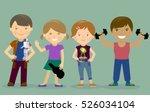 hobbies kids robot music sports.... | Shutterstock .eps vector #526034104
