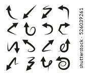 vector arrow icons | Shutterstock .eps vector #526039261