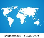 simplified white world map... | Shutterstock .eps vector #526039975