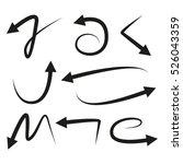 vector illustration of curved... | Shutterstock .eps vector #526043359