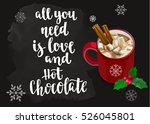 christmas warming beverage... | Shutterstock .eps vector #526045801