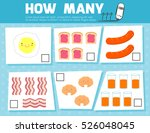 counting game for preschool...   Shutterstock .eps vector #526048045