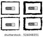 grunge frame texture set  ... | Shutterstock .eps vector #526048351