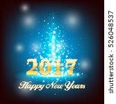 happy new year 2017. vector... | Shutterstock .eps vector #526048537