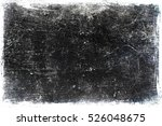 Grunge Scratched Texture  Blac...