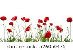 red poppies isolated on white | Shutterstock . vector #526050475