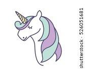 cute fantasy unicorn icon... | Shutterstock .eps vector #526051681