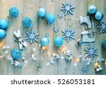 packing presents for winter... | Shutterstock . vector #526053181