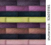 seamless leather patchwork... | Shutterstock . vector #526055581