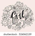 hand drawn doodle vector set of ... | Shutterstock .eps vector #526062139