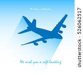 plane icon. flat illustration... | Shutterstock .eps vector #526062517