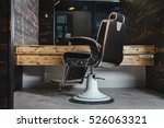 stylish vintage barber chair in ... | Shutterstock . vector #526063321