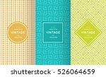 bright retro seamless pattern... | Shutterstock .eps vector #526064659