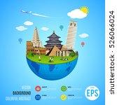 world landmarks concept. vector ...   Shutterstock .eps vector #526066024