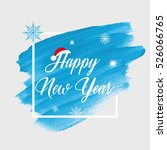 'happy new year' holiday sign... | Shutterstock .eps vector #526066765