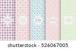 retro pastel seamless pattern... | Shutterstock .eps vector #526067005