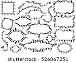 set of hand drawn ink... | Shutterstock .eps vector #526067251