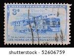 usa   circa 1952  a stamp... | Shutterstock . vector #52606759